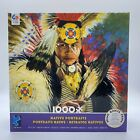 Ceaco 1000 Piece Jigsaw Puzzle Native American Indian Portrait NEW w Poster 1