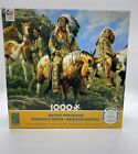 Ceaco 1000 Piece Jigsaw Puzzle Native American Indian Portrait NEW w Poster 2