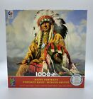 Ceaco 1000 Piece Jigsaw Puzzle Native American Indian Portrait NEW w Poster 3