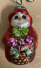 Christopher Radko Snowman Ornament Two Sides Used