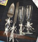 Wedding Champagne Glasses And Knife Engraved Disney Castle Beautiful