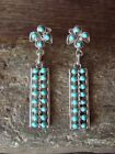 Native American Sterling Silver Turquoise Post Earrings Zuni Indian