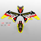 1996-1998 SUZUKI RM 125 250 GRAPHIC KIT RM125 RM250 ROCKSTAR : BLACK / RED DECAL