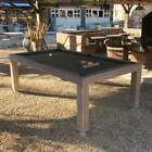7 OUTDOOR LUXURY CONVERTIBLE DINING POOL TABLE VISION BILLIARDS FREE SHIPPING
