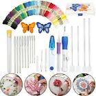 DIY Embroidery Pen Magic Knitting Sewing Kit Tools Punch Needle + 50 Threads Set