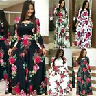 Women Long Canonicals Long Sleeve Party Floral Summer Sexy Maxi Dress Fashion