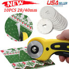 10PC 28 45mm Rotary Cutter Refill Blade Sewing Quilting For Olfa Fiskars Cutters