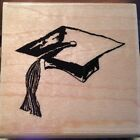 Paper Inspirations Mortar Board FF10026 Wood Mounted Rubber Stamps