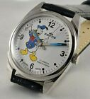 FORTIS BLUE AND WHITE DONALD DUCK DIAL SWISS MADE 17JWL HAND WINDING WRIST WATCH