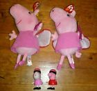 Original Ty Beanie Babies UK Limited 2003 Princess Peppa Pig & Jazwares Figures