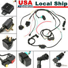 CDI Wire Wiring Harness Assembly Kit ATV Electric Start QUAD 50cc 110cc 125cc