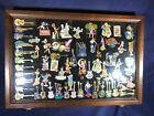 S2 95 HARD ROCK CAFE PINS 67 PIN LOT IN GLASS WOOD CASE 67 PINS FOR 1 PRICE