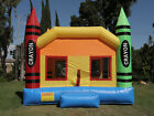 NEW Commercial Grade Crayon Castle Inflatable Jumper Bounce House 100 PVC