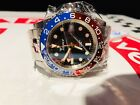 Squale 30 ATMOS RED & BLUE PEPSI GMT CERAMICA with Solid End Link Bracelet