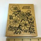 PSX Botanical Anemone Floral Flowers K2168 Rubber Stamp Ranunculaceae XX RARE