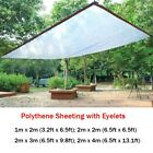Polythene Sheeting Curtains Screen Tent Rain Plastic Cover Eyelet Every 1m Home