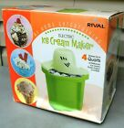 AT HOME FUN WORKING RIVAL 4 QUART ELECTRIC ICE CREAM MAKER IN BOX +INSTRUCTIONS