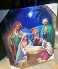 Nativity stretch Canvas Wall Art with Stars that light up at Night