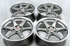 4 New DDR i5 18x8 5x1143 35mm Gunmetal Machined Lip 18 Wheels Rims