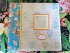 Scrapbook 12x12 Post Bound Floral Album kit With papers and embellishments