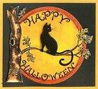 HAPPY HALLOWEEN Moon CAT Wood Mounted Rubber Stamp NORTHWOODS M9813 New