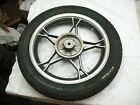 1995 SUZUKI GN125E GN 125 REAR WHEEL RIM - SPINS STRAIGHT - GOOD BRAKE HUB- NICE