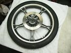 1995 SUZUKI GN125E GN125 FRONT WHEEL RIM WITH GOOD SMOOTH BEARINGS - NICE USED
