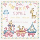 LetiStitch Counted Cross Stitch Kit LETI 935 Baby Girl Birth Record