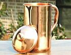 100 PURE COPPER AYURVEDA PRODUCT NATURAL HEALING DRINK WARE WATER JUG PITCHER
