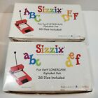 Sizzix Fun Serif Die Cutter Lot of 2 Uppercase and Lowercase Alphabet Set in Box
