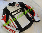 Ducati Motorbike Leather Racing Biker Leather Jacket With CE Armors Removable