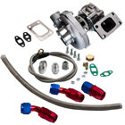 T04E T3 T4 A R63 57 Trim 400+HP Stage III Turbo Charger+Oil Feed+Drain Line Kit