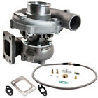 T04E T3 T4 A R63 57 TRIM 5 Bolt 400+HP Stage III Turbo Charger+Oil Feed Line