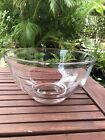Tiffany  Co Crystal Glass Large Round Bowl 10 Vintage Original