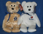 TY I LOVE BAYSTAR & WINSTAR BEANIE BABY SET -MINT with MINT TAGS JAPAN EXCLUSIVE