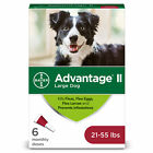Bayer Advantage II Flea Control and Prevention for Large Dogs 21 55 lb 6 doses