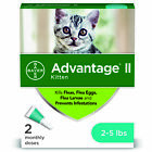 Bayer Advantage II Flea Control and Prevention for Kittens 2 5 lb 2 doses