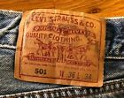 Blue mens levi 501 jeans 36 waist 34 leg approx 20 years old vintage
