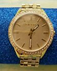 DKNY Watch Gold tone w/ Rhinestones Solid Stainless Steel NY-4757 Women