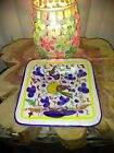 SM Made In Italy Square Bird  Flowers Ceramic NWOT