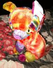 Ty Beanie Baby 2000 KALEIDOSCOPE CAT Multi-Color Stuffed Animal Plush Toy NEW
