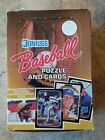 1987 Baseball Puzzle and Cards Wax Box Donruss 36 Sealed Packs Bonds Maddux RC?