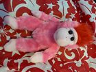 TY Retired Beanie Baby Original Charmer Pink Gorilla NO TAG Pink With Red Hair