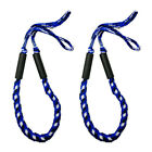 2PCS Marine Bungee Dock Line Boat Mooring Rope Anchor Cord Stretch Blue Crinkle