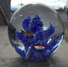 Fish Coral Reef Glass Paperweight