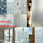 HOT Waterproof Frosted Privacy Window Glass Cling Cover Film Home PVC Sticker