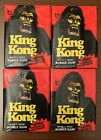 (1976) TOPPS-KING KONG Movie-De Laurentiis-UNOPENED (4) WAX PACK Cards Stickers