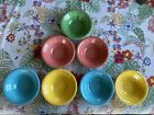Seven Homer Laughlin Harlequin Cereal Bowls Green, Pink, Yellow, Turquoise