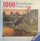 New Sealed Ravensburger Puzzle Reflections 1000 Piece Wolf SW Native American