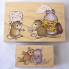 Stampabilities House Mouse Chewable Aspirin Beary Good Friends Rubber Stamp Lot